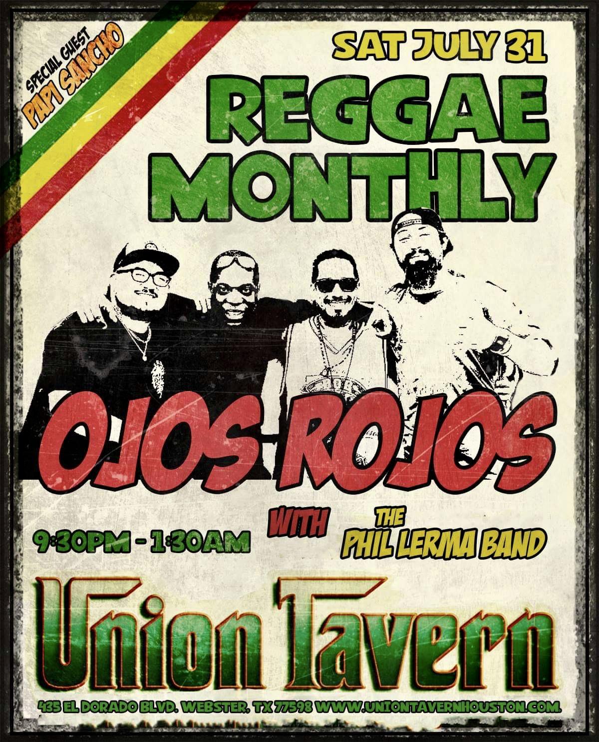 Ojos Rojos, Phil Lerma Band, & Papi Sancho @ Union Tavern 7/31